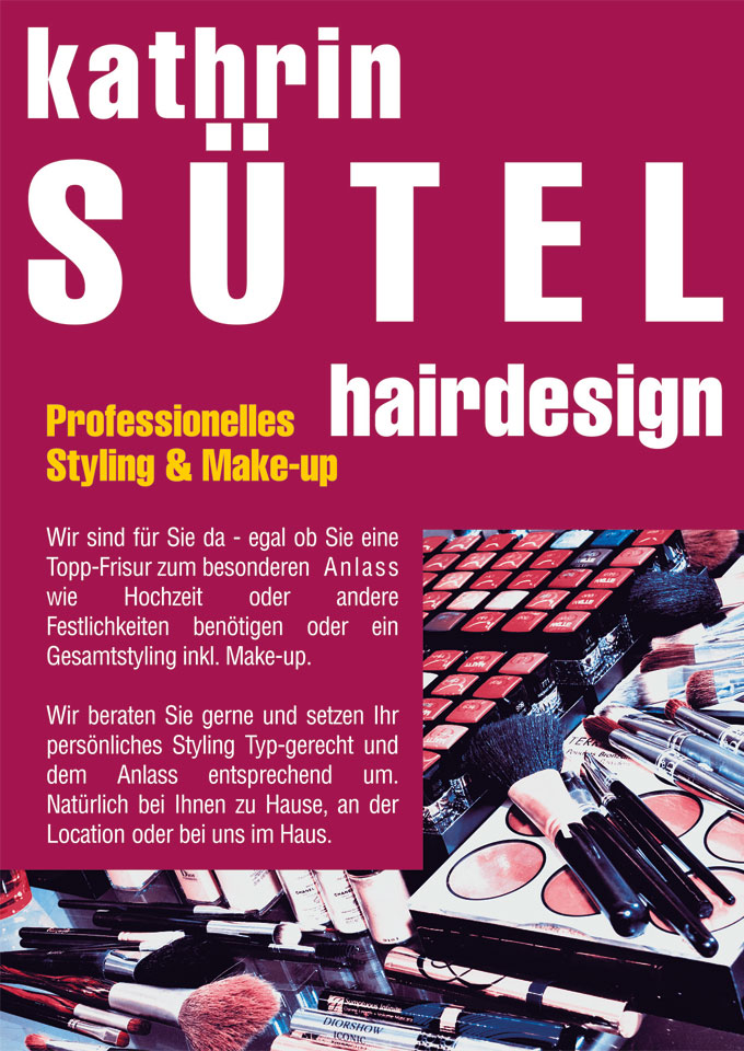 Professionelles Styling und Make up